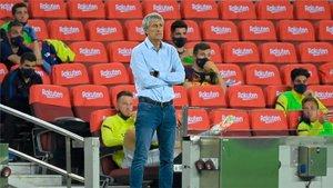Setién no mejora a Valverde en el banquillo del Barça