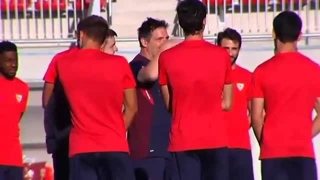 El Sevilla empezó a trabajar a las órdenes de Berizzo