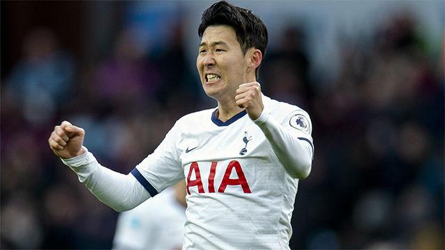 Son, héroe del Tottenham - Aston Villa con el gol de la victoria en el 94
