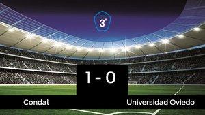 Tres puntos para el equipo local: Condal 1-0 Universidad Oviedo