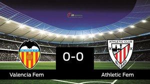 El Valencia Femenino y el Athletic Club empataron a cero