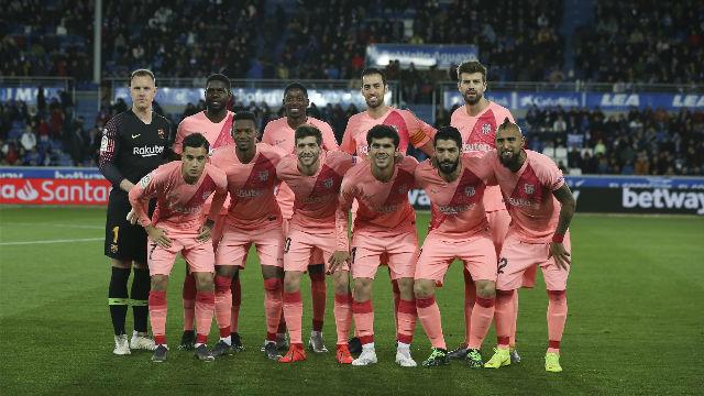 El 1x1 del Barça ante el Alavés al descanso