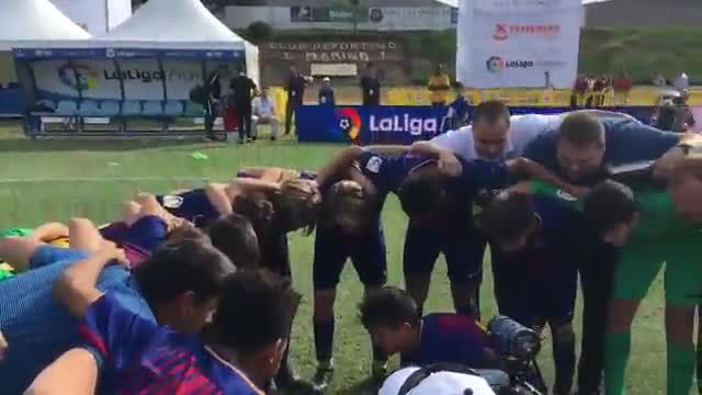 Así celebró el Barça el pase a la final