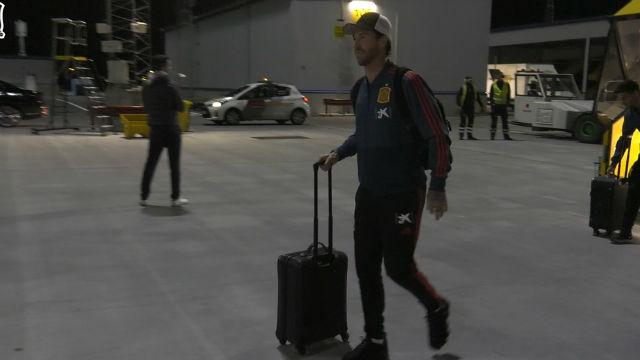 Así ha sido la llegada de España a Estocolmo para medirse a Suecia