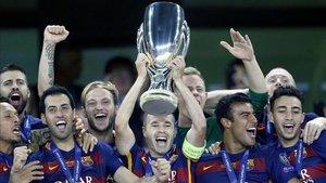 El Barça conquistó la Supercopa de Europa en 2015 tras un partidazo