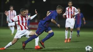 Carles Pérez es el factor desequilibrante del Barça en esta UEFA Youth League