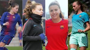 Claudia Pina, Candela Andújar, Gemma Font y Anna Torrodà entrarán en los planes del primer equipo