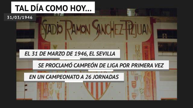 Se cumplen 74 años de la primera la primera liga del Sevilla