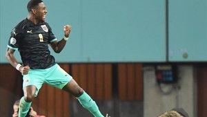 David Alaba celebra uno de los goles de Austria en esta fase