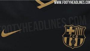 Detalle de la segunda equipación del FC Barcelona para la temporada 2020/21
