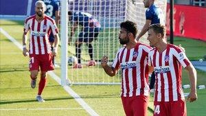 Diego Costa, celebrando un gol en La Nucía ante el Levante