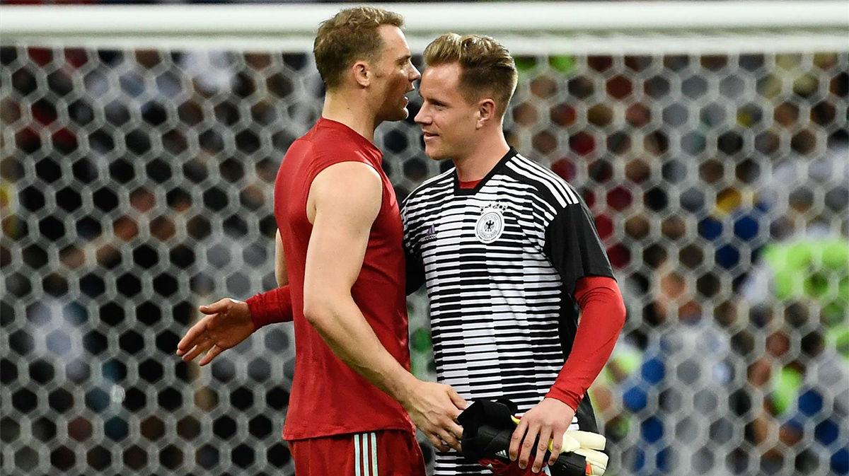 Duelo de guardianes, Ter Stegen vs Manuel Neuer