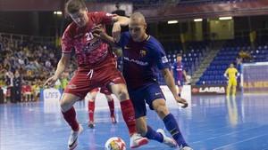Ferrao marcó dos goles en la victoria azulgrana ante ElPozo