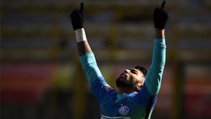 Gabigol marcó, por fin, su primer gol con el Inter de Milán