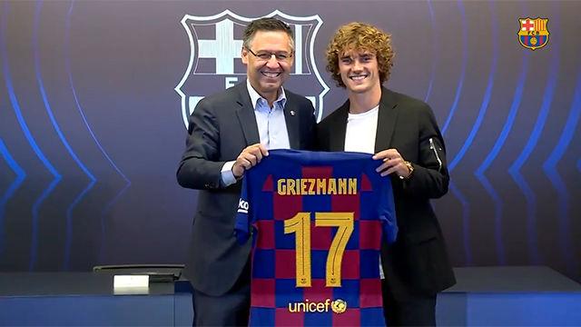 Griezmann lucirá el dorsal 17 en el Barça