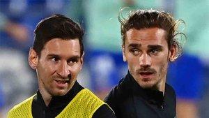 Griezmann parece que acompañará a Messi en el ataque en el clásico