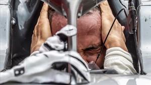 Hamilton celebra su victoria en Hockenheim