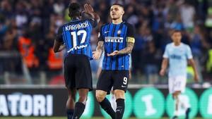 El Inter se llevó la victoria y el billete para la Champions