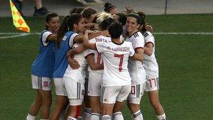 Las jugadoras de la selección española en una imagen de archivo.