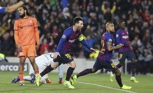 Las mejores imágenes del partido de vuelta de octavos de final entre el FC Barcelona - Olympique Lyon disputado en el Camp Nou.