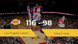 Los Angeles Lakers consigue derrotar a Miami Heat (116-98)