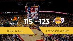 Los Angeles Lakers se lleva la victoria frente a Phoenix Suns por 115-123