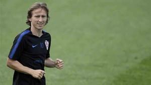 Luka Modric, jugador de la selección de Croacia