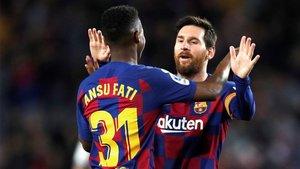 Messi y Ansu siguen en sintonía