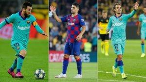 Messi, Luis Suárez y Griezmann