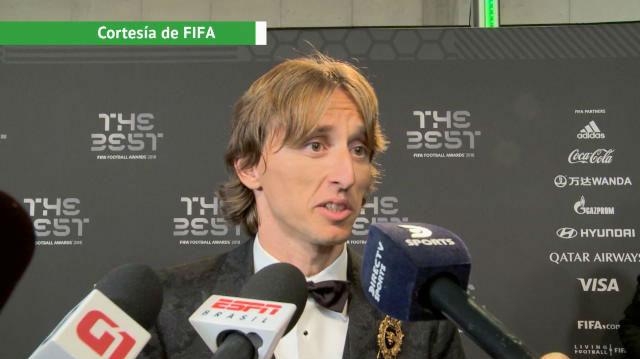 Modric: Estoy feliz y orgulloso de recibir este premio