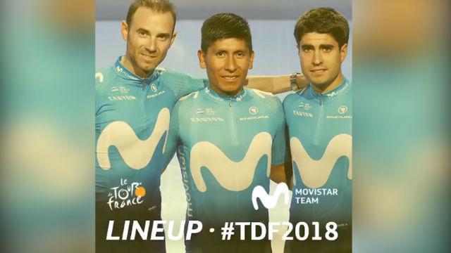 Movistar ha confirmado a su equipo para el Tour de Francia