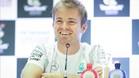 Nico Rosberg, en la rueda de prensa ofrecida hoy en Interlagos
