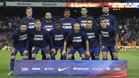 El once inicial del FC Barcelona en el partido de la Liga Santander 2017/18 en el Camp Nou contra el Eibar