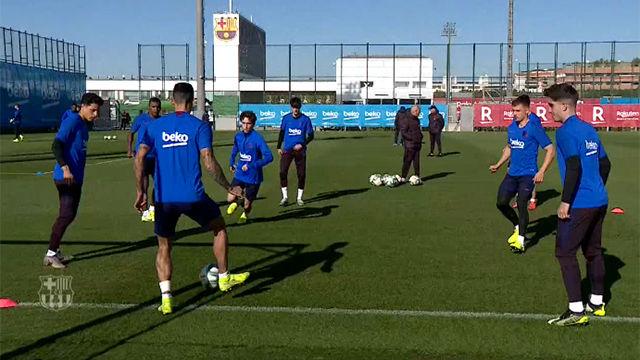 Piqué y Rakitic se entrenan al margen del grupo antes de amistoso Cartagena