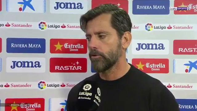 Quique analizó la derrota sufrida ante el Sevilla