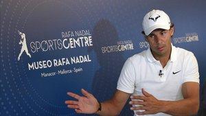 Rafa Nadal, en su centro deportivo de Mallorca