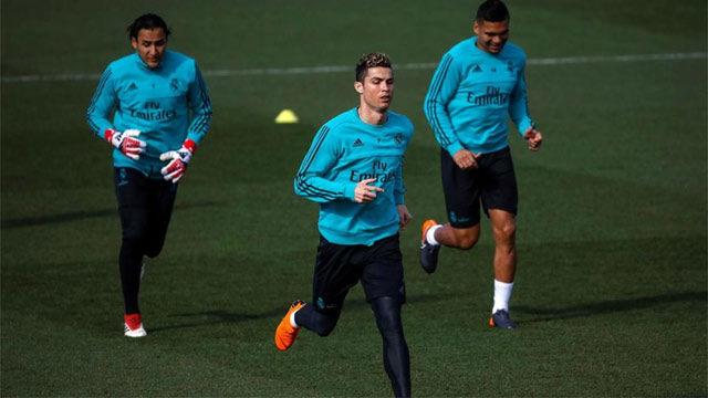 El Real Madrid entrenó con la mirada puesta en el Alavés
