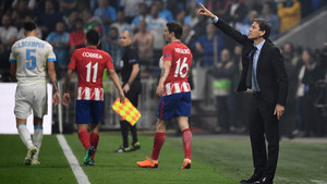 Rudi García valoró la superioridad del Atlético