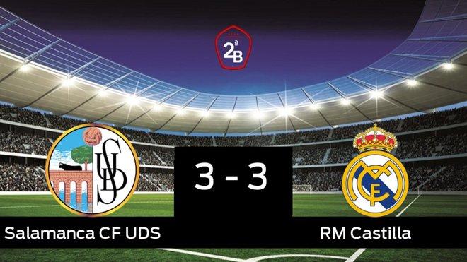 El Salamanca UDS y el RM Castilla sólo sumaron un punto (3-3)