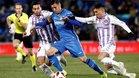 Sergi Guardiola, en un duelo ante el Valladolid
