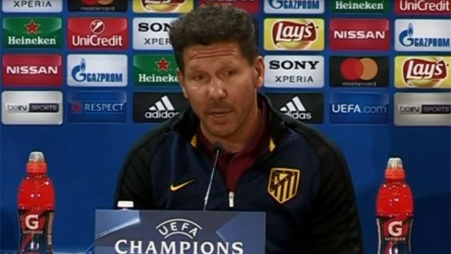 Simeone decidirá el once contra el Leverkusen antes del partido