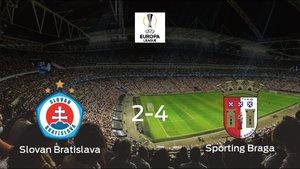 El Sporting de Braga se queda con los tres puntos tras vencer 2-4 al Slovan Bratislava