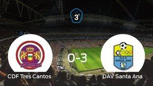 El Tres Cantos sufre una goleada frente al Santa Ana (0-3)