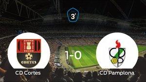 Triunfo del Cortes por 1-0 frente al Pamplona