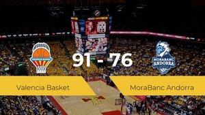 Triunfo del Valencia Basket ante el MoraBanc Andorra por 91-76