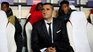 Valverde, en el banquillo visitante del Eden Arena