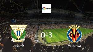 Villarreal score 3 in win against Leganés 0-3 at Estadio Municipal de Butarque