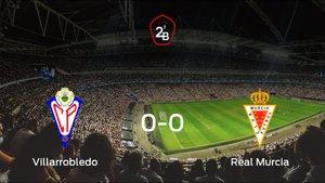 El Villarrobledo y el Real Murcia consiguen un punto después de empatar a cero