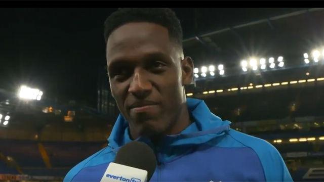 Yerry Mina se mostró feliz tras ser elegido MVP del encuentro ante el Chelsea