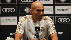 Zidane, en una imagen de archivo en rueda de prensa